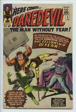 1965 MARVEL DAREDEVIL #6 LAST YELLOW COSTUME, STAN LEE & WALLY WOOD FINE   S2