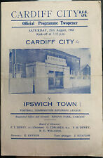More details for cardiff city reserves v ipswich town reserves 1964/65
