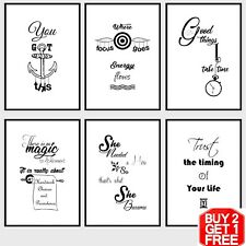 Inspirational Motivational Quote Prints Posters,Funny Framed Wall Art Home Decor