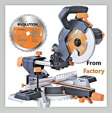 Evolution SINGLE-Bevel Sliding Compound Saw 230 V Multipurpose