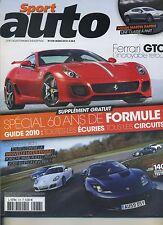 SPORT AUTO n°578 03/2010 LOTUS EVORA AUDI TT RS NISSAN 370Z PORSCHE CAYMAN S
