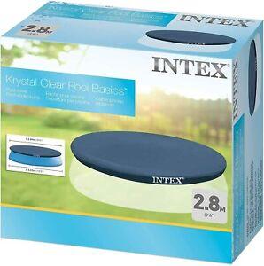 INTEX 10FT POOL COVER FAST EASY SET ROUND SWIMMING POOL PADDLING POLYETHYLENE UK