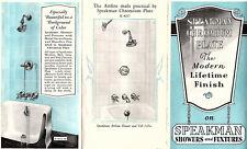 Chromium Plate For Speakman Showers Bath Lavatory & Sink Fixtures Vtge Brochure