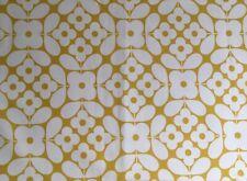 FQ 50cm Square Orla Kiely Flower Tile Yellow Cotton Fabric New