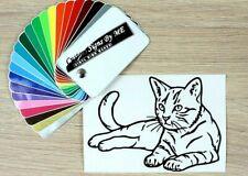 Cat Wall Car Sticker Vinyl Decal Adhesive Window Bumper Tailgate Laptop Black #2