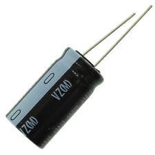 Nichicon UVZ VZ electrolytic capacitor, 470 uF @ 100V, 16mm x 25mm