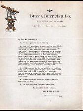 Buff & Buff Mfg Co c1898  - Surveying Instruments - Boston Ma - Letter Head Rare