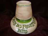 Pyrogene Publicite Absinthe Bar Allumettes Match Striker Holder Porcelaine