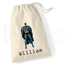 Personalised Batman Canvas Drawstring Bag