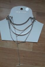 BN NEW LOOK SILVER COLLAR LAYERED NECKLACE GIFT £9.99 MOTHERS DAY