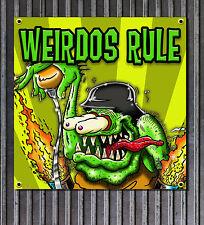 Weirdos Rule Rat Fink Style vinyl garage shop banner