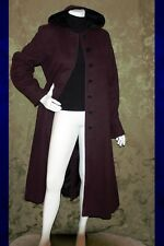 LONDON FOG Deep Purple Plum with Velvet Hood Women Trench Coat