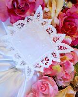 "Doilies Cotton White Lace Battenburg Doily Wedding Sewing Crafts Journals 5"" SQ"