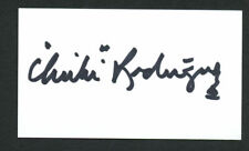 Chi Chi Rodriguez signed autograph auto 2x3.5 cut Golf Hall of Fame Member G08