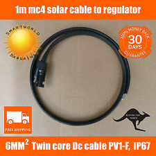 1M Twin Core 6mm2 50A Mc4 Extension Cable from PV Solar Panel to regulator