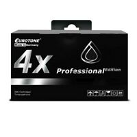 4x Eurotone Pro Cartridge Black For Epson Stylus Photo R-310 R-210 R-220 RX-300