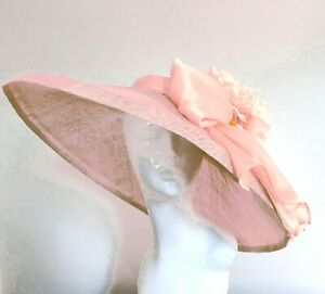Exclusive Pink Designer Millinery by Hat Couture Wedding Bridal AscotHat