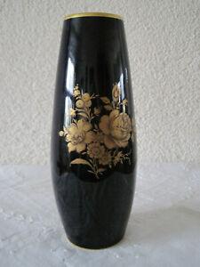 Ziervase in Echt Kobalt mit Gold  - Lindner Kueps Bavaria