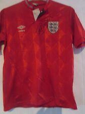 Terry Cooper Firmado Inglaterra 1986 Away Camiseta de fútbol con certificado de autenticidad 40945