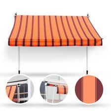 300 x 120 Klemmmarkise Fallarmmarkise Markise orange Handkurbel Balkonmarkise