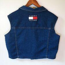 Details about Vintage Tommy Hilfiger Jeans Sandblasted Blue Tailored Waist Cropped Jacket