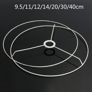 Circular Lampshade Frame Ring Set Lamp Light Shade DIY Making Kit 9.5-40cm Dia.