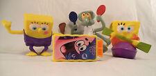 Lot of 4 Different Spongebob  Squarepants Action Figures Toys Boys Girls