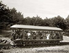 Railcar with Passengers, Mt. Tom Railway, Mass. -c1910- Historic Photo Print