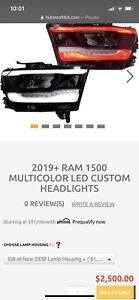 2019 2020 2021 ram 1500 Headlights