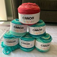 Lot 6 Caron Yarnspirations Chunky Cakes Blue Moon Cherries Jubilee