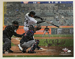 Miguel Cabrera Signed Autographed 16x20 Snow Photo Tigers JSA WIT561731