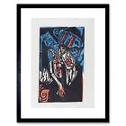 Ernst Ludwig Kirchner German Qualen Der Liebe Framed Wall Art Print