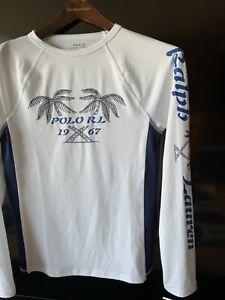 POLO Ralph Lauren swimming long sleeve rash guard shirt SZ XL 18-20 NWT$55 ma