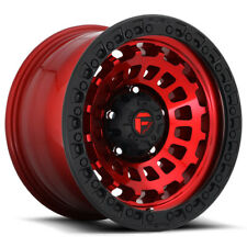 "Fuel D632 Zephyr 18x9 8x6.5"" +1mm Red Wheel Rim 18"" Inch"