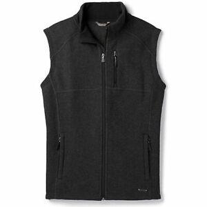 Smartwool Mens Dark Gray Echo Lake Fleece Zip Winter Outdoors Vest Size XL