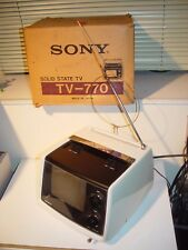 Sony TV-770 vintage 70's portable SOLID STATE TV Transistor Television