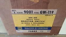 SQUARE D 9001 GW-119 NEW IN BOX OFF-ON HD SEL SW NEMA 4 600V SEE PICS #A17
