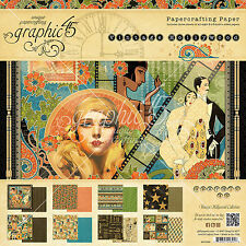 Graphic45 VINTAGE HOLLYWOOD 8x8 PAPER PAD scrapbooking 24 SHEETS