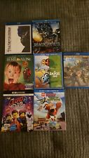 Home Alone, Transformers, A bugs life, Lego Scooby doo, The lego movie 2 Blu Ray