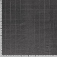 Jersey-Strickstoff, Nooteboom Textiles, Karo, Anthrazit meliert, Breite 147cm