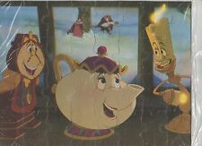 RARE 1992 Disney Beauty & The Beast Pizza Hut Puzzle Picture 11X8 NEW SEALED