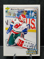 Martin Brodeur #408 Star Rookies Card - 1992/93 Upper Deck - New Jersey Devils