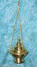 "Brass Hanging Censer NEW Star design standing Incense Resin burner 11.8oz 6"" J"
