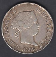 Devise 1 Escudo Isabelle II - Année 1868 - Madrid 18 68