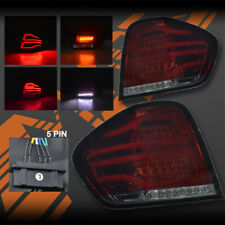 Smoked Red 3D Stripe & LED Indicator Tail Lights for Mercedes-Benz ML W164 06-08
