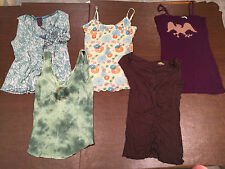 Lot of 5 FREE PEOPLE Women's Size Small SLEEVELESS TANK TOPS SHIRTS BLOUSES