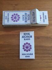 "Vintage Razor Blades Full Pack of 10 ""Royal Arcanum"" USA Scarce"