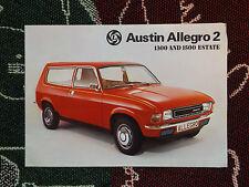 1970's AUSTIN ALLEGRO 2 SALES BROCHURE - 1300 & 1500 ESTATE