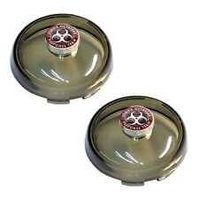 2 Smoke Snap In Bullet Turn Signal Lenses for 02-16 Harley - Zombie Outbreak R/W