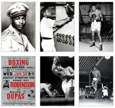 Sugar ray robinson légende de la boxe jeu de cartes postales